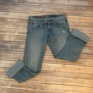 AG Adriano Goldschmied Distressed The Tomboy Jean